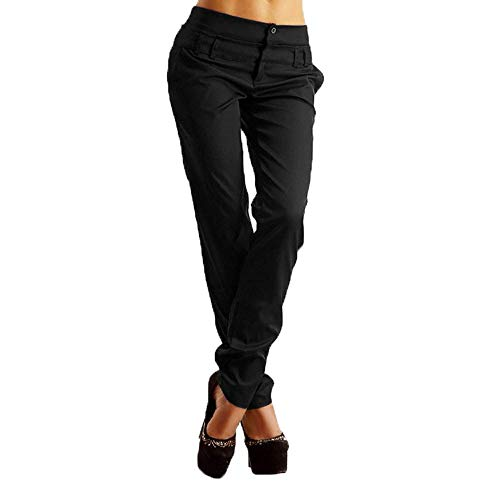 POQOQ Pants Leggings Women Ease in to Comfort Fit Classic Bootcut w/Tummy ControlGrey's Anatomy Signature XL Black