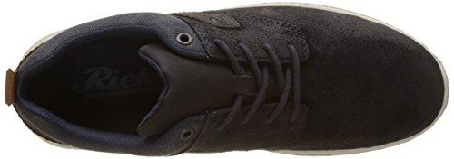 Rieker 15811, Zapatillas para Hombre Azul (Pazifik/navy/schwarz/mogano)