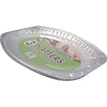 3 x ALUMINIUM FOIL PLATTER TRAY - 44cm x 29cm disposable foil catering serving dish FREE DELIVERY by PPS