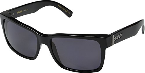 (Vonzipper Mens Elmore Polarized Sunglasses, Black Gloss/Vintage Grey Wildlife - One Size)