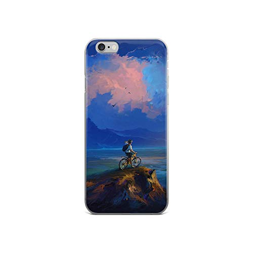 iPhone 6/6s Pure Clear Case Cases Cover Cyclist Rock Cliff Art Clouds -