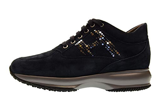 Baskets Bleu Hogan Femme Chaussures HXW00N0AS80CR0U805 Interactive Basses Exvqx1
