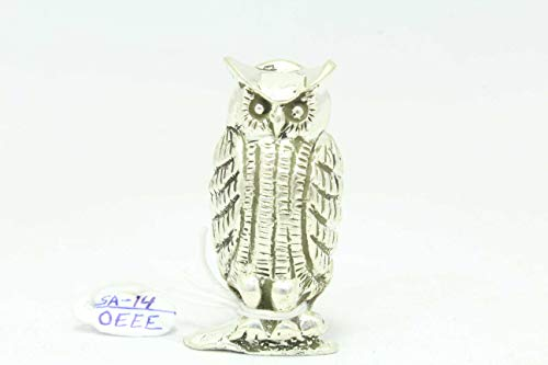 PH Artistic Handmade 925 Sterling Silver OWL Bird Figure 41.0 Grams Decorative Gift Item