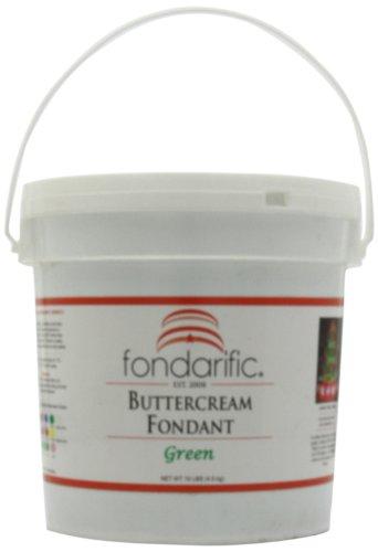 Fondarific Buttercream Green Fondant, - Cream Butter Fondarific Fondant