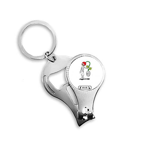 Halloween Decapitated Ghost Horus Nail Clipper Ring Key Chain]()