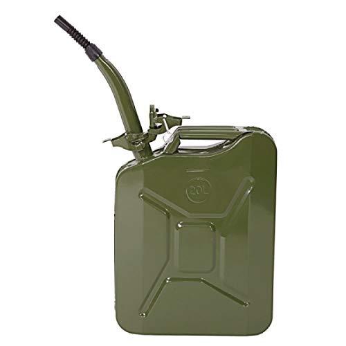 Tenozek Emergency Oil Gas Can 5 Gallon 20L Portable Gas Oil Water Bucket Petrol Diesel Storage Can Tanks with Spout Green by Tenozek