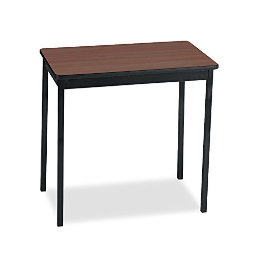 Barricks UT183030WA Utility Table, Rectangular, 30w x 18d x 30h, Walnut/Black ()