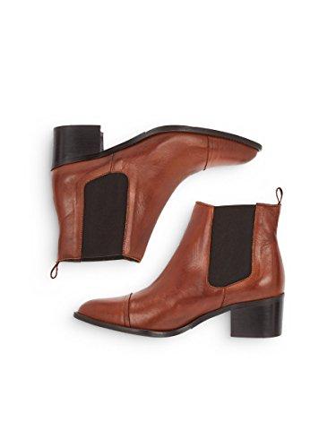 Dress 240 cognac Bianco Chelsea Marron Femme Boots Ux6zHq