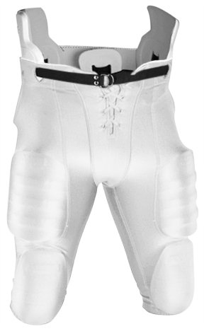 - Adams Youth Snap In Football Pant with Half-Web Belt Attached (White, X-Large)