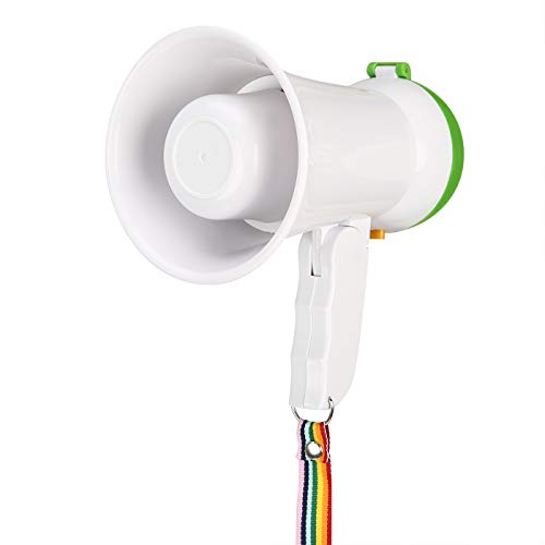 HDE 5W Mini Bull Horn Megaphone Voice Amplifier with Lanyard]()