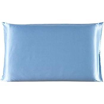 Amazon Com Juwenin Bedding Luxury Satin Pillowcase With