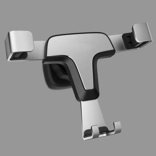 金属合金携帯電話ホルダー、xl携帯電話ホルダースマートフォンユニバーサル車の電話ホルダー車の電話ホルダーカーナビゲーションブラケット、空気出口車のブラケットバックル重力サポート (色 : シルバー しるば゜)