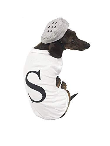 Midlee Salt & Pepper Dog Costume (Salt, Small) -