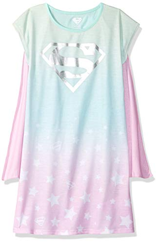 Justice League Girls' Big Superhero Jersey Nightgown, Supergirl