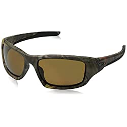 Oakley Men's Valve OO9236-25 Polarized Rectangular Sunglasses