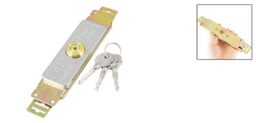 SOURCING MAP sourcingmap Cruzar chavetero Garaje Puerta de seguridad Laminaci/ón bloqueo de la puerta w 3 llaves de metal