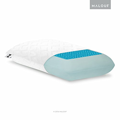 Z Gel Infused Dough Memory Foam + Liquid Pillow with Rayon from Bamboo Removable Velour Cover, Queen, Mid Loft