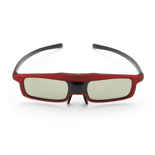 SainSonic Rainbow Series Economical Red Version UNIVERSAL 3D Rechargeable Infrared Active Shutter Glasses For Panasonic, Samsung, Sony, Sharp, LG, Toshiba, Philips 3D HDTVs, Cost Less, Enjoy More!