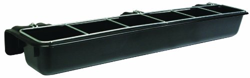 Little Giant HF9BLACK Hook Over Goat Trough, 9-Quart, Black