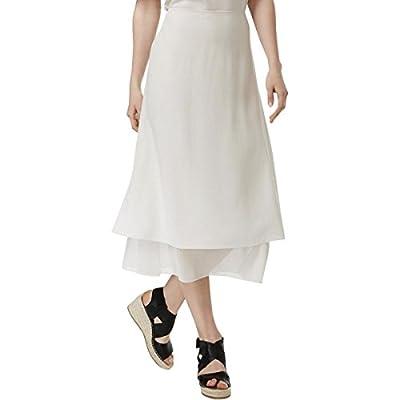 Eileen Fisher Womens Silk Layered Maxi Skirt