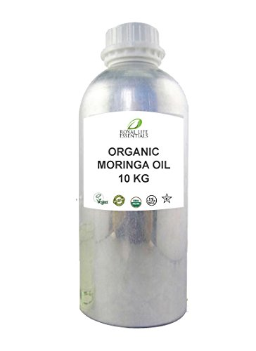 Raw Moringa Oleifera Oil 10kg or 22 lbs. - USDA Certified Organic, NON-GMO, Natural, Pure Herbal Oil by Royal Life Essentials