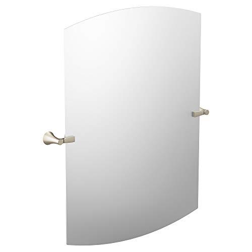 Moen YB0390BN Flara Square Bathroom Tilting Mirror, Brushed -