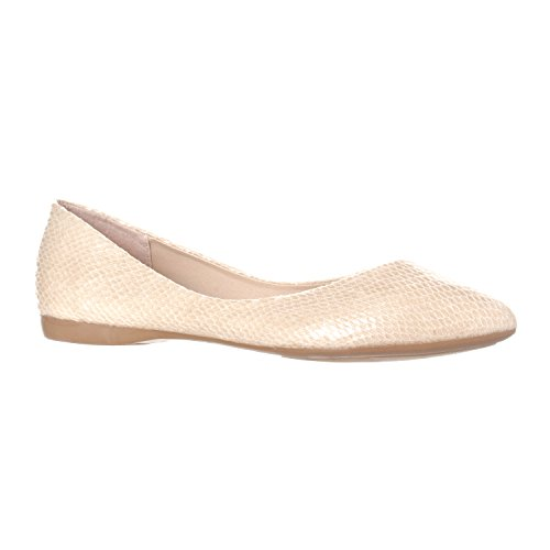 Women's Riverberry Shoe Closed On Toe Pointed Ballet Beige Slip Flat Snake Basic Ella rrawqznWvd