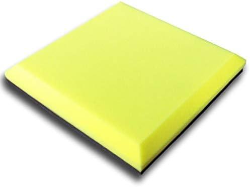 ドラム部屋の音響パネル、10PCSの自己接着屋内オフィスのスタジオの多機能色の吸音性の綿 (Color : Yellow)