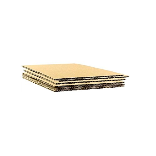 HGP 8.5'' x 11'', 125 pack, Corrugated Cardboard Sheets Shipping Cushioning Pads 1/8 Thick Medium Size by Harper Grove Productions