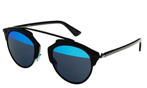 New Christian Dior SO REAL B0Y/Y0 black/blue grey mirror - Real Dior So Sunglasses Black