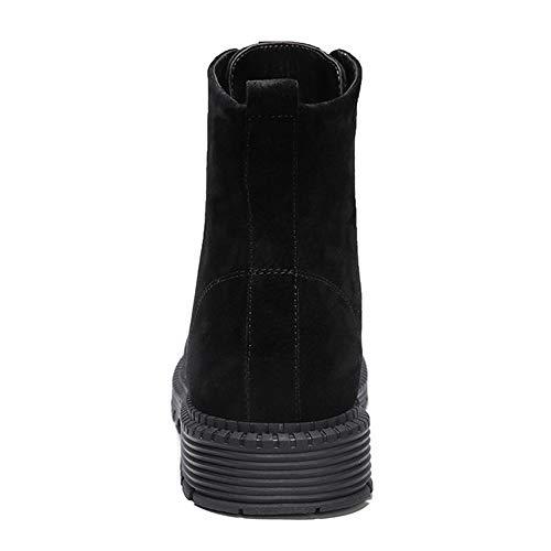 Black Acciaio Autunno snfgoij Pelle Ginnastica Impermeabili Stivali Scarpe Lavoro da Punta Alti Leggera Tempo Libero per Martin Mens Il Stivali Scarpe da in wIBpgq