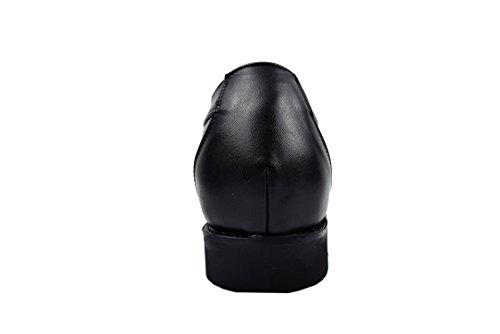 Zerimar Herren Schuhe mit Unsichtbarer Erhöhung 7 cm Schuh Aus Hochwertigem Leder Farbe Schwarz Größe 40