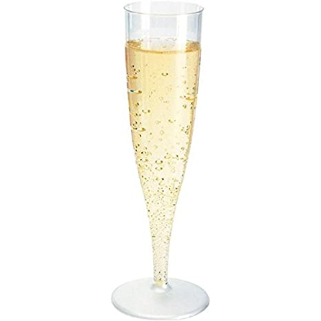 40 Einweg Sektgläser 0,1l Champagnergläser Sektkelche Sektglas mit Steckfuß