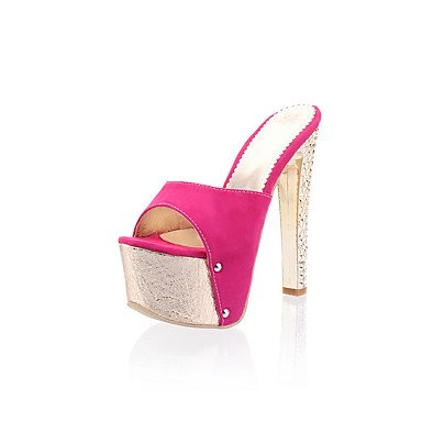 LvYuan Mujer-Tacón Stiletto-Confort Talón Descubierto-Sandalias-Vestido Fiesta y Noche-PU-Azul Plata Oro Rosa Rosada Silver