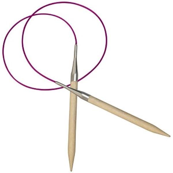 Multicolore 40 x 0,2 x 0,2 cm Bois de Bouleau KnitPro KP35300 Basix Aiguilles /à Tricoter circulaires Fixe /épingles
