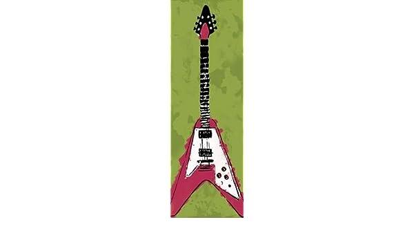 feelingathome. it, impresión sobre lienzo 100% algodón sin guitarra eléctrica A2 cm 234 x 79 (cm personalizables a opcional): Amazon.es: Hogar