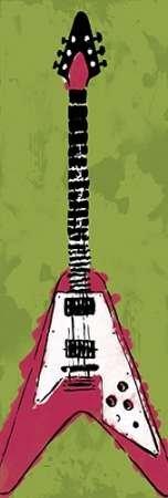 feelingathome. it, impresión sobre lienzo 100% algodón sin guitarra eléctrica A2 cm 234