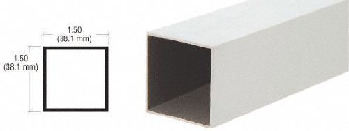 Aluminum Square Pipe - CRL Satin Anodized 1-1/2