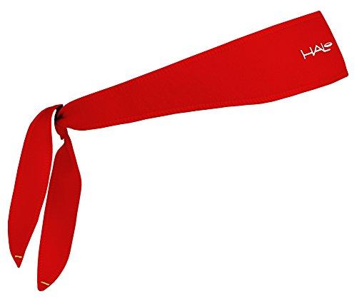 (Halo Headband Sweatband Tie Red)
