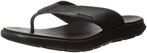 Cole Haan Men's Zerogrand Thong Sandal, Black, 11 M US