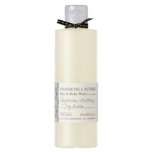 Bath House Spanish Fig & Nutmeg Hair & Body Wash for Men by Bath House ()
