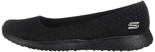 Skechers Sport Women's Microburst One up Fashion Sneaker,Black,6 M US