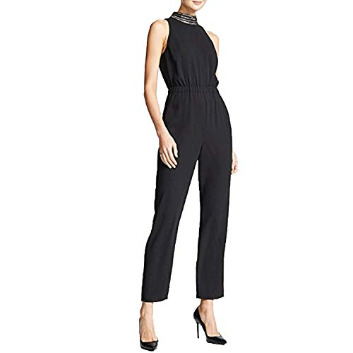 Ali & Jay Women's Sleeveless Stretch Blouson Jumpsuit with Pockets, Black Shine Bright, ()