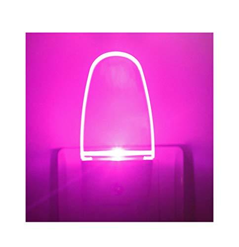 Pink LED Night Light Plug in 2 Pack, Dusk to Dawn Light Sensor, 0.5w, Auto On/Off