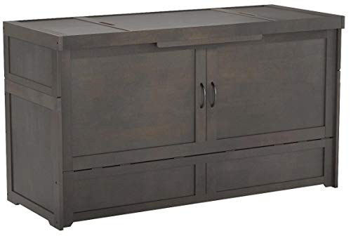 SDS Murphy Cube Queen Cabinet Bed Fully Assembled (Stonewash)