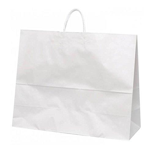 【ケース販売】 手提袋 HV160 晒(白) 無地 巾:440×:210×高さ:430㎜ 150枚(50枚×3包) B079ZSQPLK