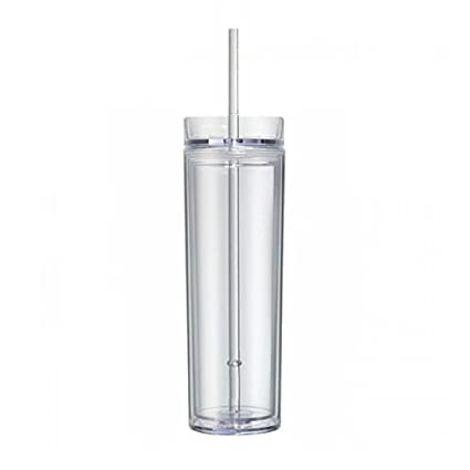 aa8bafb4fe1 Image Unavailable. Image not available for. Color: Double Wall Skinny Acrylic  Tumbler ...