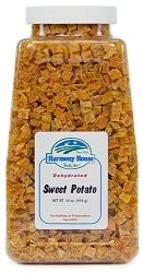 Dehydrated Sweet - Harmony House Foods Dried Sweet Potato, diced (20 oz, Quart Size Jar) for Cooking, Camping, Emergency Supply, and More