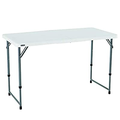 Lifetime 4428 Height Adjustable Craft, Camping and Utility Folding Table by Lifetime