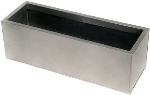 Primrose Garden Zinc Galvanised (Silver) planter - rectangular – XL